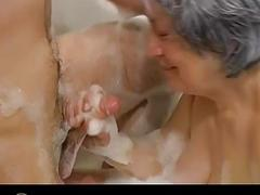 Granny and granddaughter sucking dick bouyfriend