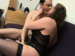 French ripe Francoise fucked in Male+Male+Female