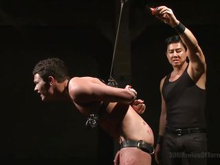 hot wax for a gay slave