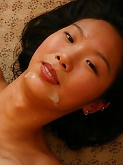 Petite Asian whore gets rammed by stiff pole
