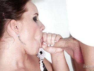 dark hair playing with four horny studs @ 4 on 1 gang bangs #04