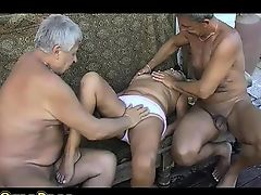 OmaPass Double old men fucking smokin' old BBW Mature