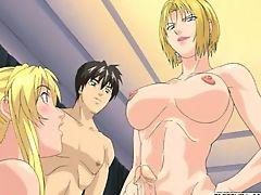 Blonde hentai shemale fucking girls heavy