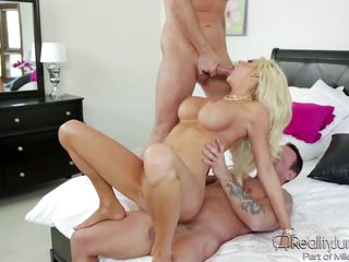 courtney enjoys two passionate cocks @ dp my wife with myself #07