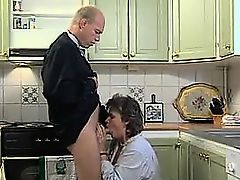 Grandma Sucking And Very In The Kitchen