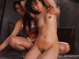lesbian mistress hurts her slave