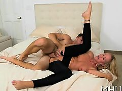 Damp MILF i'd like to fuck is obsessed with and hawt copulation