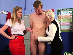 Mature brit dominatrix jerk