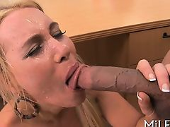 Gorgeous babe is being fucked severe by a hard dude