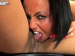 Two dirty amateur lesbian babes love to get cruel