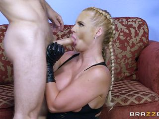 full-grown blonde pleasing two cocks at a time