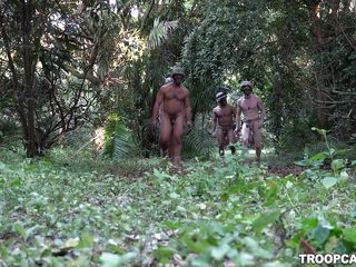 nude soldiers learn about twofold camouflage