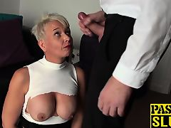 BDSM and bondage pressure for a horny milf whore in heat