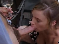 Retro porn with a passionate golden-haired sucking and fucking