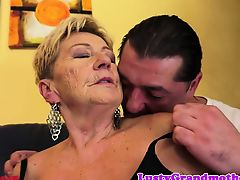 Plump gilf pounded in her hairypussy