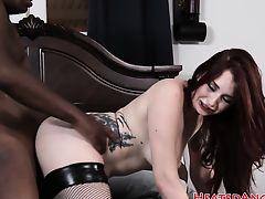 Emo slut adores big black dicks