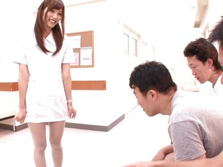 japanese nurse needs to distinguish them cum hard