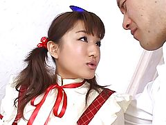 Japanese teen blowjob with creamy mustache