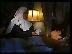 Italian nun slips in and gets a little thankful fucking and sucking