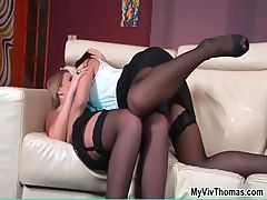 Two perfect lesbian babes love playing part6