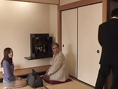 Julia the gorgeous Japanese housewife gets fucked on the floor