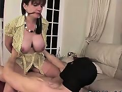 Tied up Lady Sonia milf ejaculation