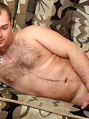 Gay Hunk Jerking Cock